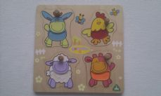 Adorable My 1st Early Learning Centre 'Animal Blossom Farm' Peg Chunky Puzzle